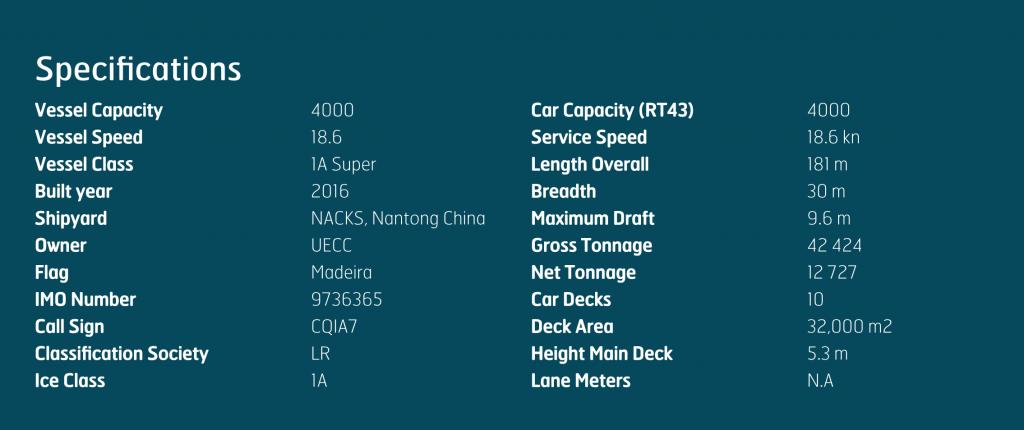 Teknisk beskrivelse LNG skip