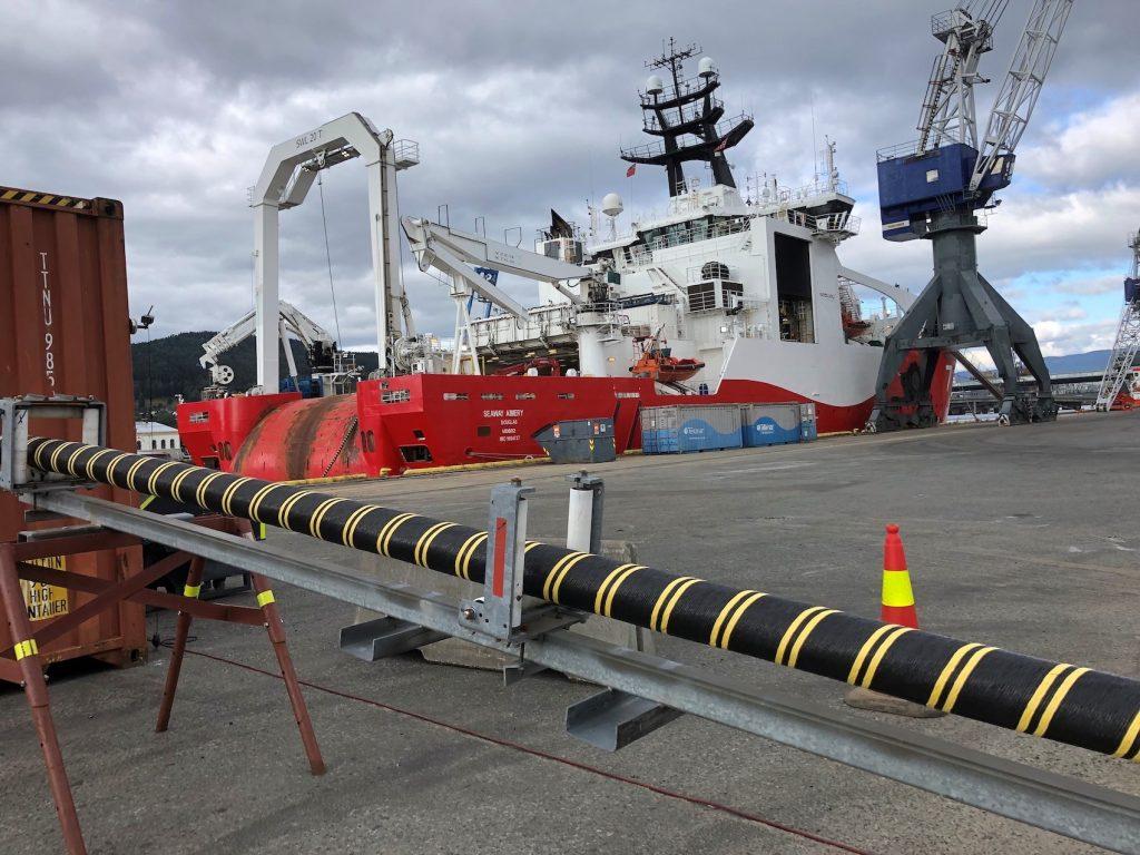 offshore-kabler spoles paa seaway aimery