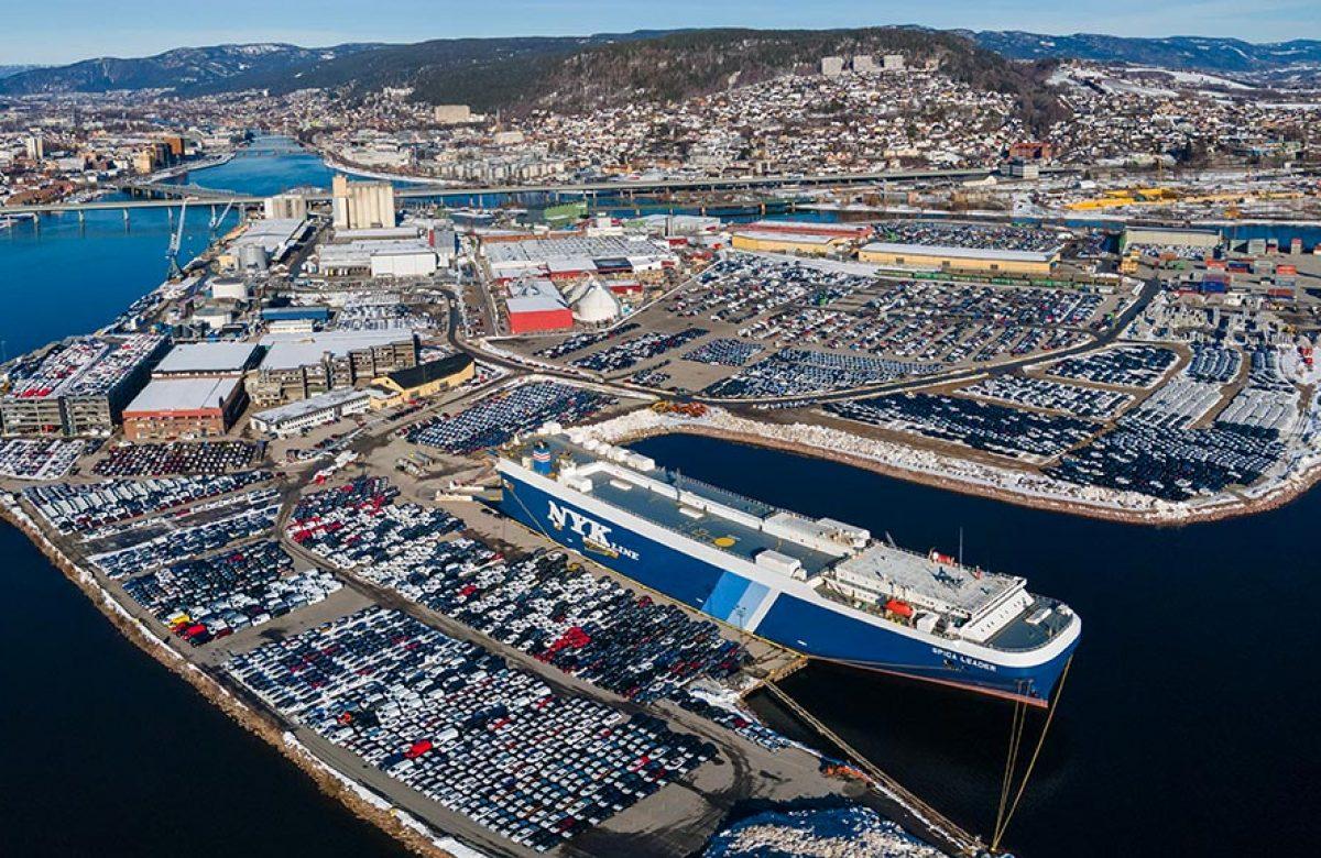 Oversiktsbilde Drammen Havn